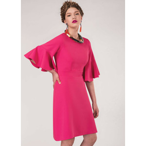 Closet Pink Tie Back Ruffle Dress