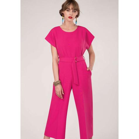 Closet Pink Kimono Cropped Leg Jumpsuit