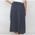 Zapara Navy & White Polka Dot Long Skirt