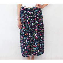 Zapara Fushia Print Button Through Long Skirt