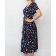 Zapara Pink & Navy Button Long Dress
