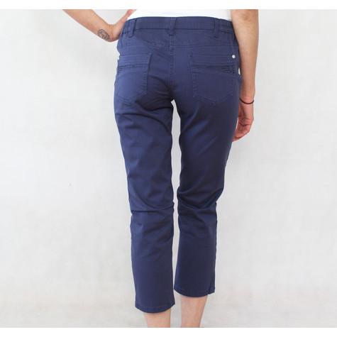 Blue Flame Navy Diamante Detail 3/4 Elasticated Waist Shorts