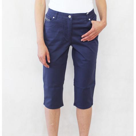 Blue Flame Diamante Detail 3/4 Button Shorts