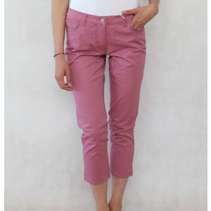Blue Flame Dark Pink Diamante Detail 3/4 Elasticated Waist Shorts