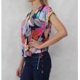 SophieB Navy Multi Colour Flower Print Top