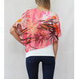 SophieB Off White Coral Print Cape Top