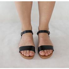 Tony & Co. Black Strap Flat Sandals