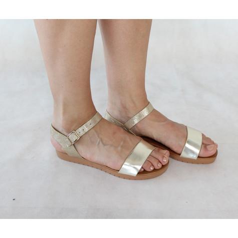 Tony & Co. Gold Strap Flat Sandal
