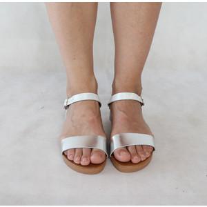 Tony & Co. Silver Strap Flat Sandal