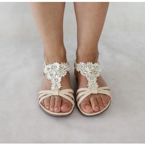 Libra Pop Beige Floral Strap Sandal