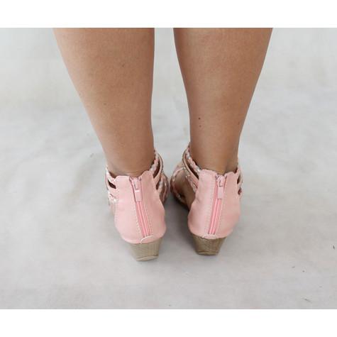 Libra Pop Pink Diamante Strap Sandal