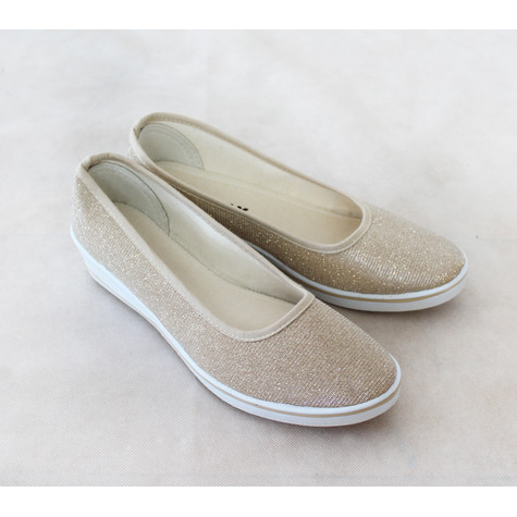 Exquily Gold Slimmer Slip Shoes