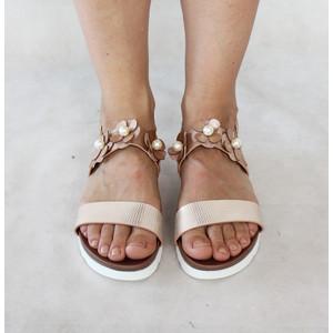 Chic Nana Champagne Floral Strap Sandal