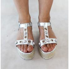 H2B Diffusion Silver High Wedge Sandal