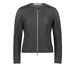 Betty Barclay Black & White Shirt Jacket With a Zip