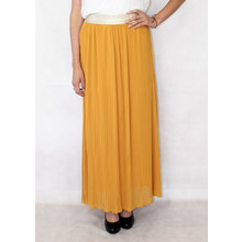 New Feeling Gold Band Mustard Long Skirt