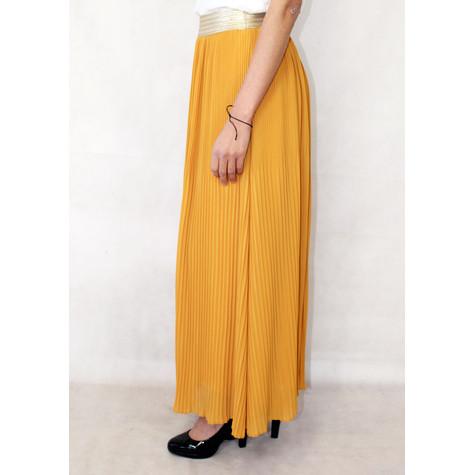 New Feeling Gold Band Mustard Long Skirt