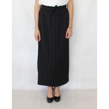New Feeling Long Black Pleated Skirt