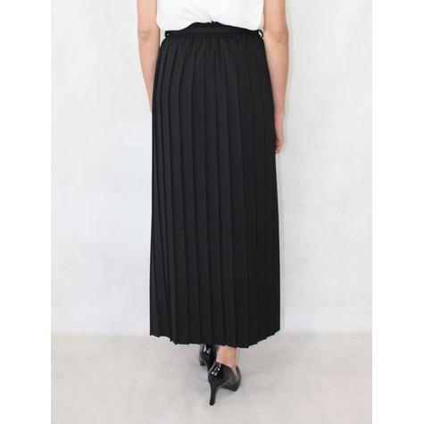 New Feeling Long Black Pleated Skirt