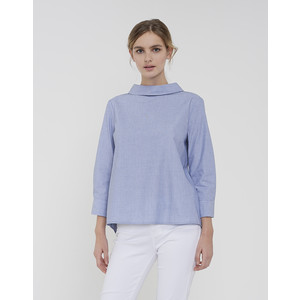 Opus Dream Blue Blouse Fanini Chambray