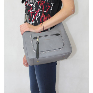 Gionni Grey Front Stud Bag