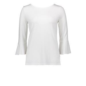 Betty Barclay Cream Round Neck Bell Sleeve Top