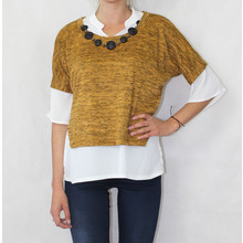 SophieB Mustard Necklace Accessory Knit