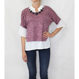 SophieB Pink Necklace Accessory Knit