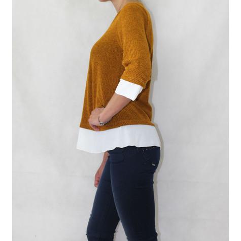 SophieB Mustard White Trim Knit