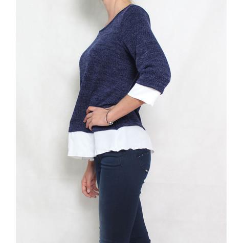 SophieB Navy White Trim Knit