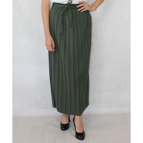 New Feeling Green Long Pleat Skirt
