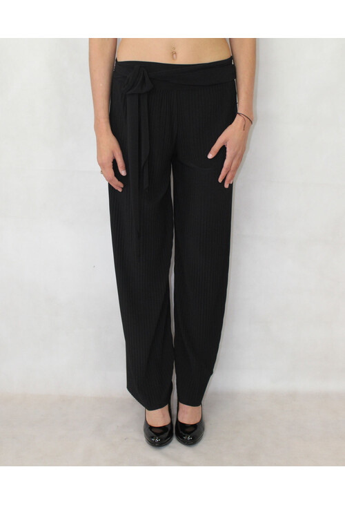 Pamela Scott Black Pleat Loose Trousers