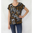 SophieB Mustard & Red Letter Print Top