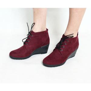 Marco Tozzi Bordeaux Lace Up Boots