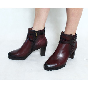 Marco Tozzi Mulberry Ankle Buckle Heel Boot