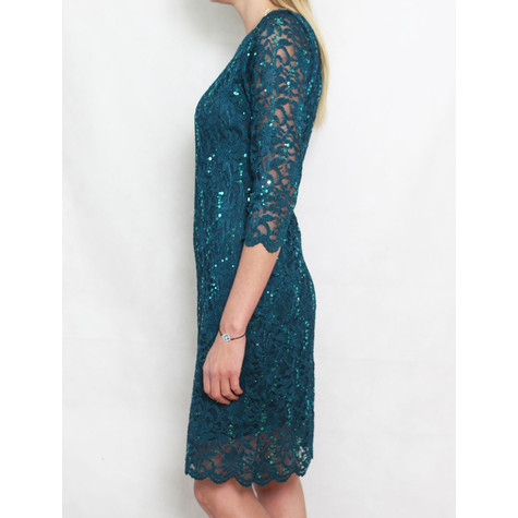 Tiana B Green Sequence Lace Dress