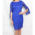 Tiana B Royal Blue Lace 3/4 Sleeveless Dress