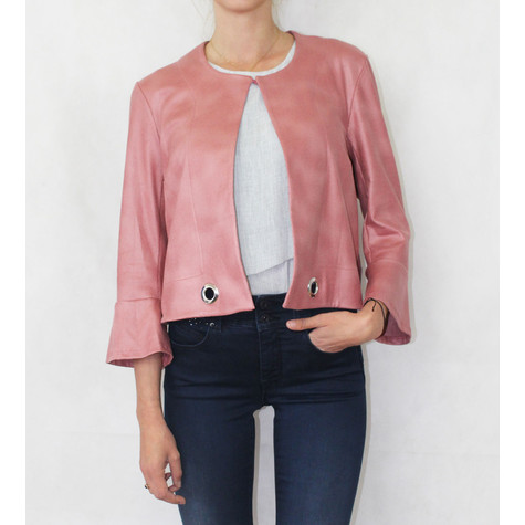SophieB Powder Pink Short Crop Jacket