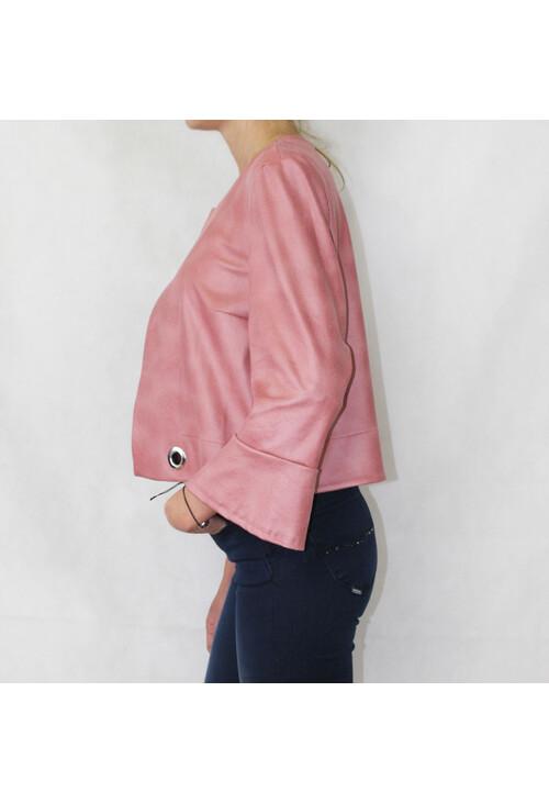 Sophie B Powder Pink Short Crop Jacket