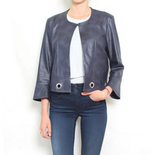SophieB Navy Crop Open Jacket