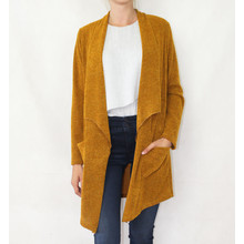 SophieB Soft Touch Mustard Long Open Knit