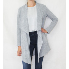 SophieB Soft Touch Grey Long Open Knit