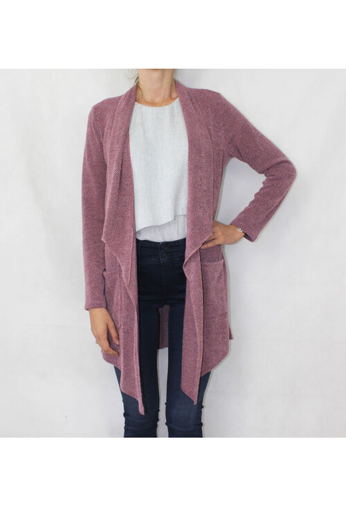 Sophie B Soft Touch Pink Open Long Knit