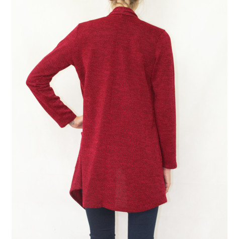 SophieB Soft Touch Red Open Long Knit
