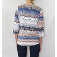 Twist Pink Zig Zag Pattern Top
