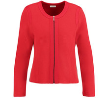 Gerry Weber Red Textured Knit Cardigan