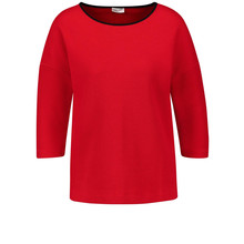 Gerry Weber Red Textured Top with 3/4-Length Sleeves