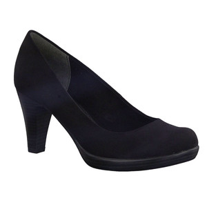 Marco Tozzi Black Suede Effect Court Heels
