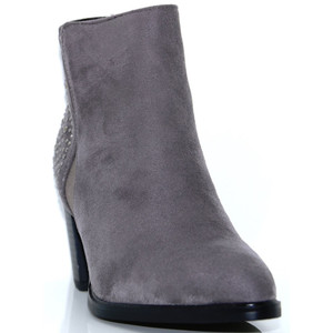 Susst Grey Diamante Stud Ankle Boot