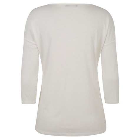 Olsen T-SHIRT WITH SEQUIN DECORATION - OFF WHITE